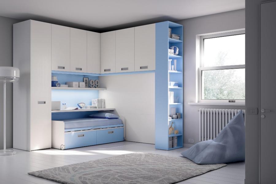 Come rinnovare la cameretta per bambini all'insegna del risparmio e della semplicità? camera azzurra e bianca