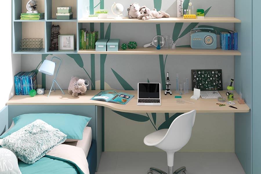 KC306 scrivania libreria componibile