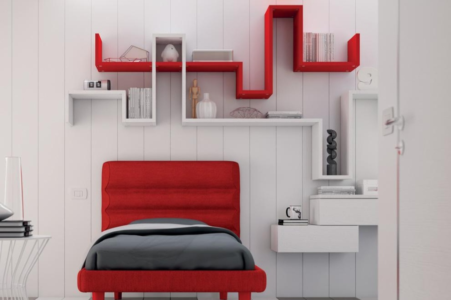 Come rinnovare la cameretta per bambini all'insegna del risparmio e della semplicità? camera bianca rossa