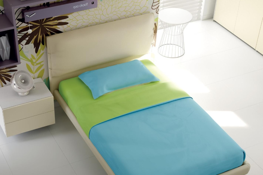 Come rinnovare la cameretta per bambini all'insegna del risparmio e della semplicità? letto verde e blu