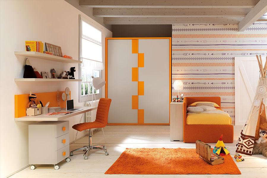 Il colore delle pareti della cameretta: non solo un fatto di estetica arancione bianco