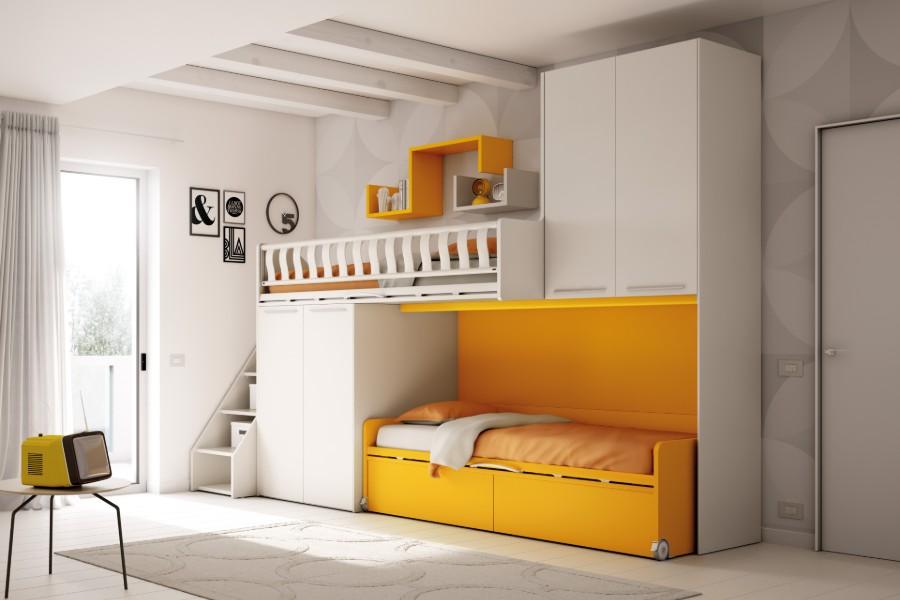 Camerette salvaspazio con due letti: qual è la soluzione che fa per te? 1