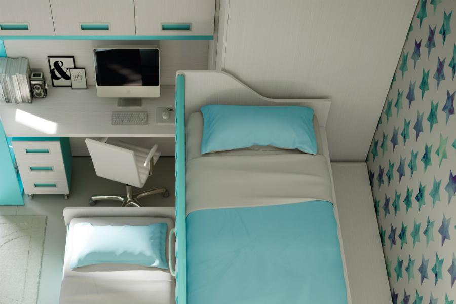 Camerette salvaspazio con due letti: qual è la soluzione che fa per te? 2