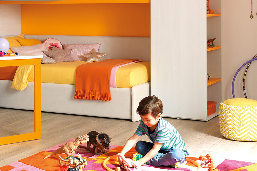 Quali sono i colori di tendenza per la cameretta dei bambini 2020 arancione