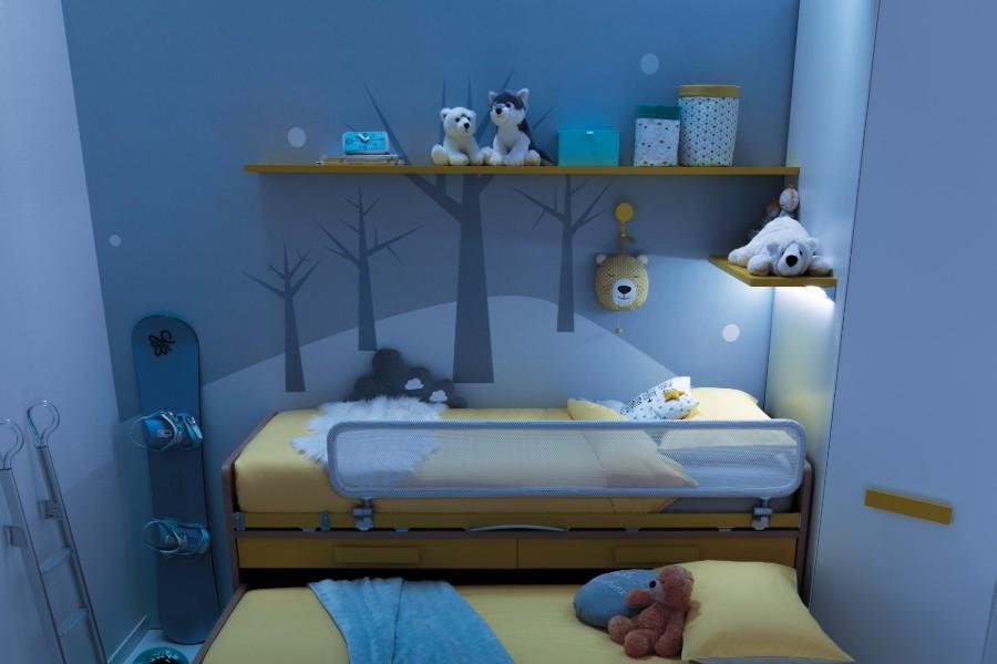 Il colore delle pareti della cameretta: non solo un fatto di estetica camera blu