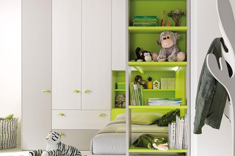 kc407 cabina armadio libreria