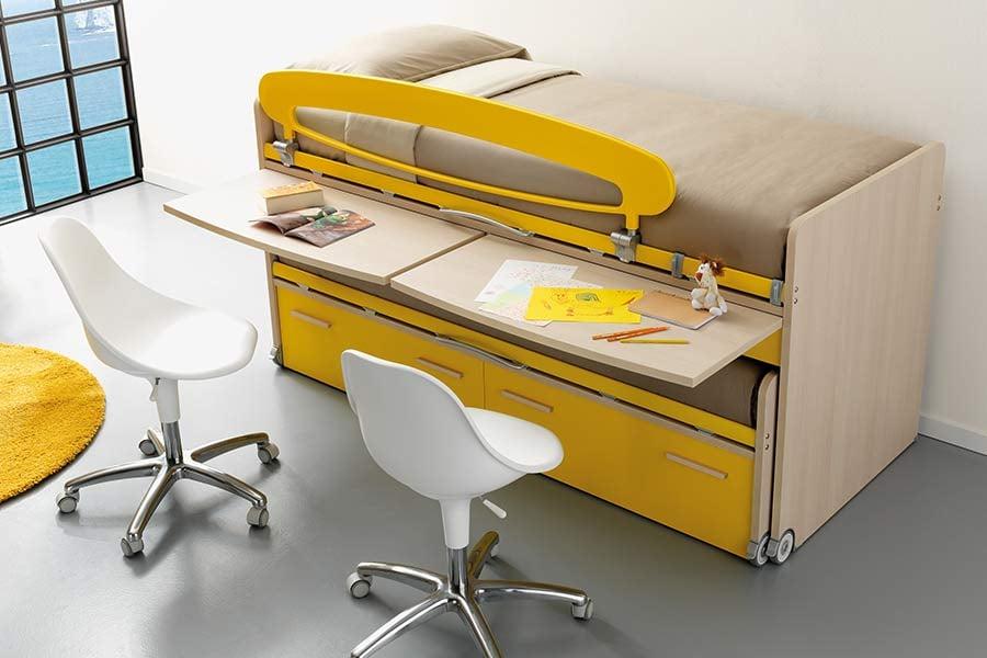 letto space scrivania