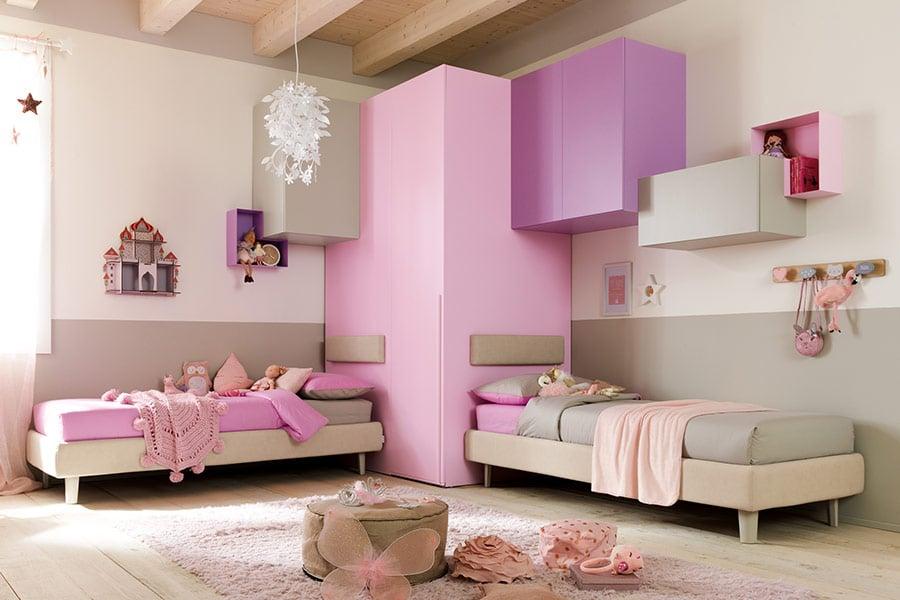 armadi letti cameretta rosa