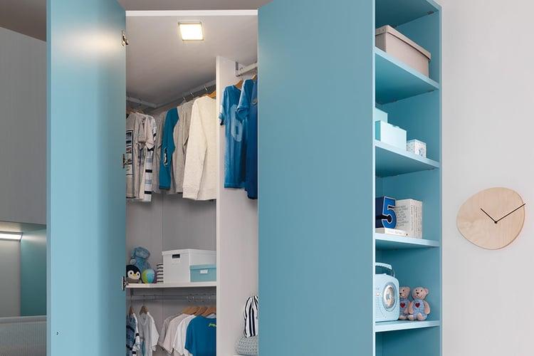 armadio blu