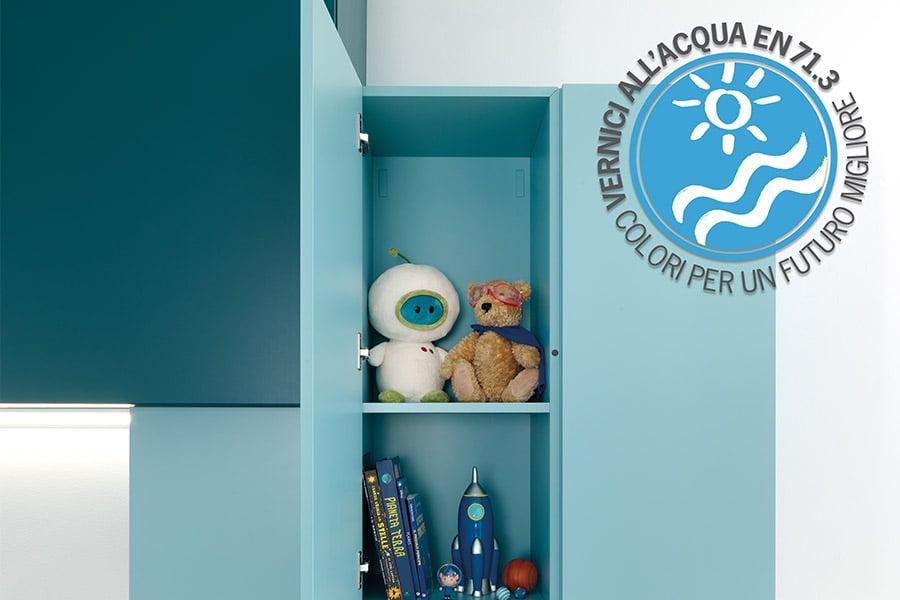 Quali finiture scegliere per la cameretta dei bambini? Ecco le proposte Moretti Compact 4