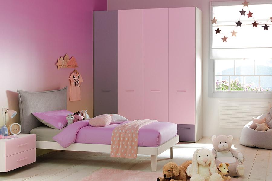 Armadio per la cameretta: 4 idee salvaspazio per stanze piccole rosa