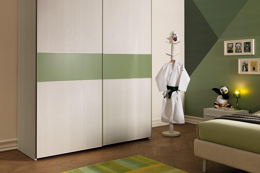 Armadio per la cameretta: 4 idee salvaspazio per stanze piccole verde e bianco