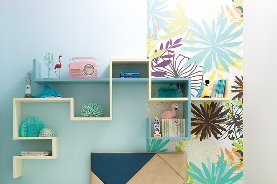 Librerie per cameretta su misura: le soluzioni di qualità Moretti Compact parete verde